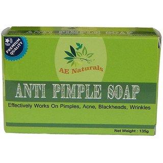AE Naturals Premium Anti Pimple Soap For Radiant Skin 135g Pack of 4