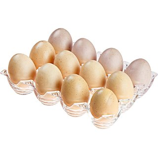 CrownLit Acrylic Egg Tray For Fridge for 1 Dozen 12 Eggs Holder 100 Safe Refrigerator Tray Compact Egg Holder