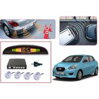 Premium Quality Car Parking Reverse Sensors For - Datsun Go  - White -  Set Of 4Pcs.