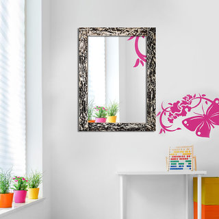 Hosley Decorative Marble Design Wall Mirror