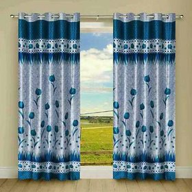 Tejashwi Traders Flower Door curtain set of single (4x7)