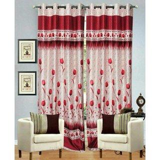 Tejashwi Traders Flower Door curtain set of single (4x7)