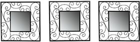 Hosley Set of 3 Decorative Square Wall Mirrors