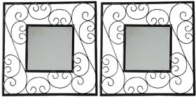 Hosley Set of 2 Square Decorative Wall Mirrors