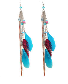 Zurii Charming Drop Feather Earring
