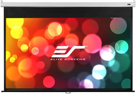 Elite Screens Manual B Series, 120-inch Diagonal 16 10, Pull-Down Projection Screen / Auto Lock, Model M120X