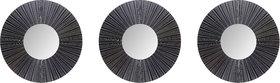 Hosley Set of 3 Decorative Black Wall Mirror