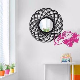 Hosley Decorative Circular Sprial Iron Wall Mirror