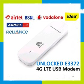 UNLOCKED Airtel Huawei e3372h 4G LTE Data Card Support All Network 2g/3g/4g IN JIO,VODA,BSNL,IDEA AIRTEL