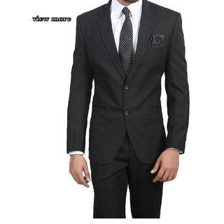 Viewmore Mens Black Color Suits Coatpant