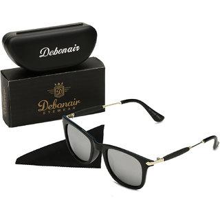 2e3f411cb0c0b Buy Debonair Silver Mirrored Unisex Wayfarer Sunglasses Online - Get ...