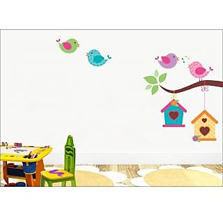 EJA Art Singing Bird With Cage Wall Sticker 36 X 24Inch Covering Area