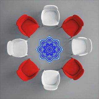 EJA Art Art No FS01 All Blue Rangoli Floor Sticker 24x24 Inch