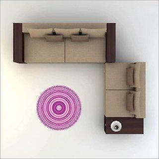 EJA Art Art No FS02 All Pink Rangoli Floor Sticker 24x24 Inch