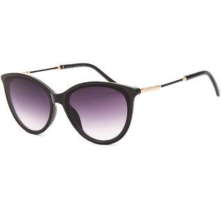 Royal Son Premium Cat Eye Women Sunglasses (HI004158Black Lens)