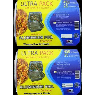 Ultra Pack 450ml pack of 2(25 pcs each with lid)