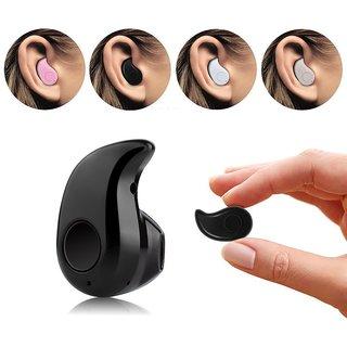 Shivrun Mini Wireless Kaju Style Bluetooth Headset Universal Earphone With Mic(Black)