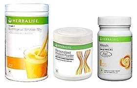 Herbalife Ultimate Weight Management Program Formula 1 Formula 3 -Mango (1 Shake 500Gm 1 Protein Powder1 AL )