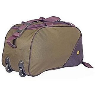 Top Gear Multicolor Polyester Duffel Bag (2 Wheels)