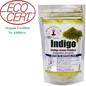 Indigo Black Powder Organic 100gms For stop hair fall
