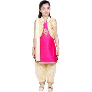 KBKIDSWEAR Girl's Party Wear Kurta Patiala Suit with Dupatta Set