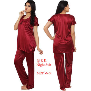 Mahroon Colour XL Night Suit ,Night Dress For women