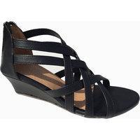 Women's Caslynn Shoe Cross Strap Wedge Sandal