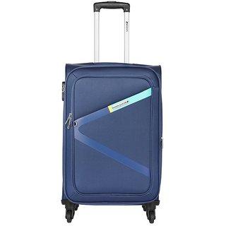 Safari Blue Polyester 4 Wheels Medium (Between 60-69 Cms) Trolley Bag 7eba4d5346107
