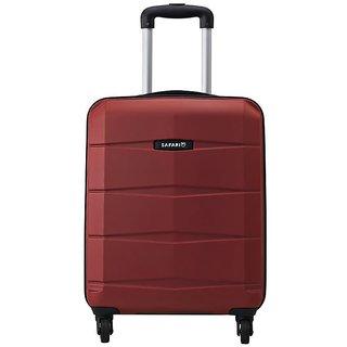 Safari Red Polycarbonate 4 Wheels Small (Below 60 Cms) Trolley Bag