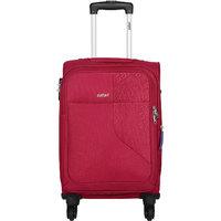 Safari Large Red Fabric 4 Wheels Trolley