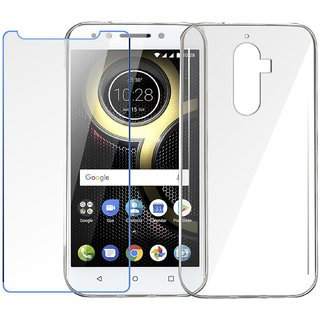 low priced 73699 f4c30 Tempered Glass For Lenovo K8 Note + Transparent Back Cover Combo Pack