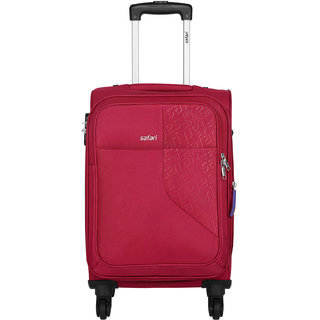 7a9a5eccee6 Buy Safari Small Red Fabric 4 Wheels Trolley Online   ₹7680 from ShopClues