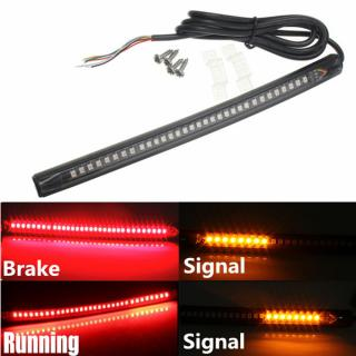 Motorcycle Bike Atv Universal Flexible Led Strip Tail Light Brake Light With Turn Signal