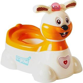 U-Grow Rabbit Musical Potty Seat- Orange Potty Seat