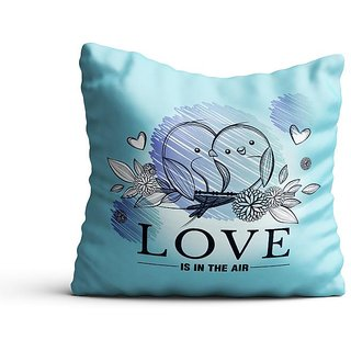 Pratibimb Love in the Air Theme Soothing Colors Printed Cushion Cover For Living Room   Home Furnishing Ideal for Gifts  16 x 16 inch size