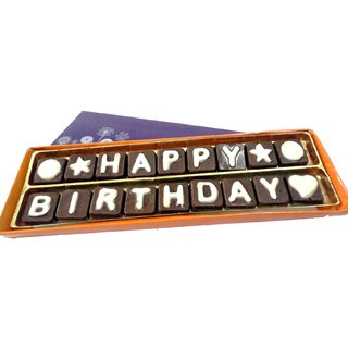 Happy Birthday Chocolate Message