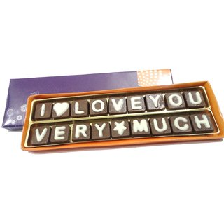 I Love You Very Much Chocolate Message