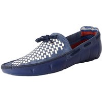 Admire Blue  White Check Color Loafer For Men's