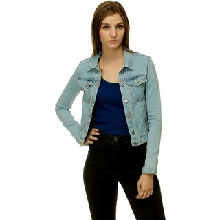 Kotty Sky Blue Denim Denim Jackets for women's: Buy Kotty Sky Blue ...
