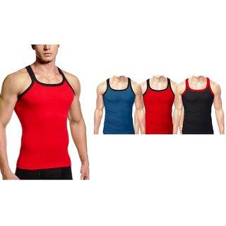 Amul Comfy Multicolour Sleeveless Vest (80 no. ) 4 pcs pack for men