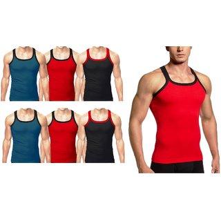 Amul Comfy Multicolour Sleeveless Vest (80 no. ) 7 pcs pack for men