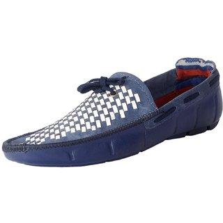 Admire mens denim casual loafer