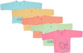 Jo Kids Wear New Born Baby Cotton Top dress set (0-3 months) Set Of 5