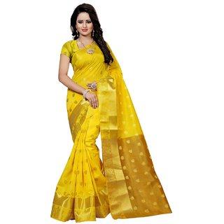344ca242c21f8 Lattest Designer Yellow cotton Silk kanjivaram saree Best selling under 999  popular products low price new
