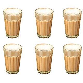 SellnShip Cutting Chai Glasses Traditional Desi Roadside Chai Tapri Masala  Tea Coffee Glass Set of 6 Cups (100 ml)