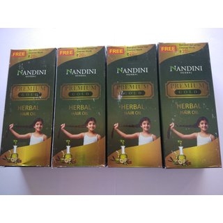 Nandini Premium Gold Herbal Hair oil (100ml pack of 4 )