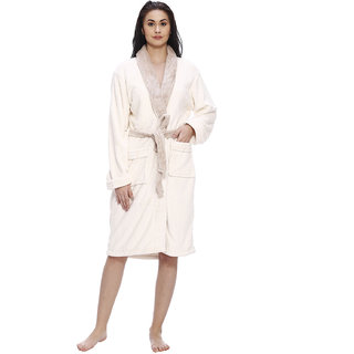 Vixenwrap Daisy White Solid Bathrobe