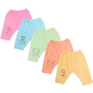 Jo Kids Wear Baby Cotton pant sets  4073 (0-6 months) Set Of 5