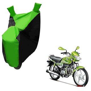 Kaaz Two Wheeler Green Colour Cover for Hero HF Deluxe Eco