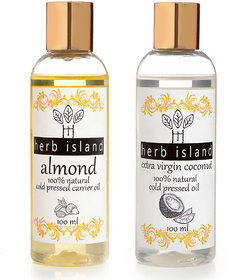 Herb Island   Almond and Coconut 200 ml Pack of 2